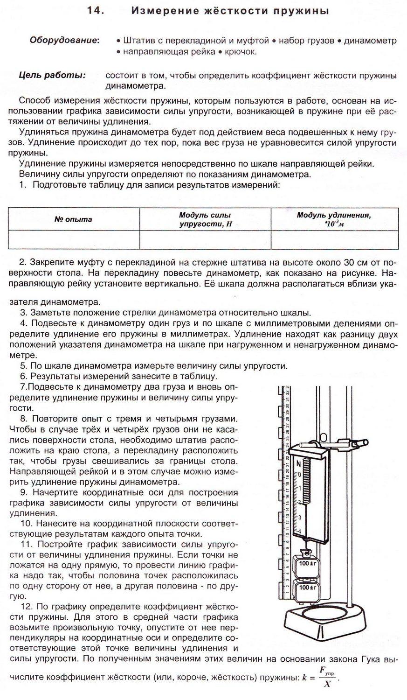 Измерение жесткости пружины